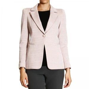 Giorgio Armani Pink Wool Blend Lined Career Blazer